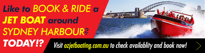Book and ride a jet boat around sydney harbour